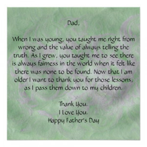 Dear Dad - Father's Day Poster by DesignsbyMel on Zazzle.