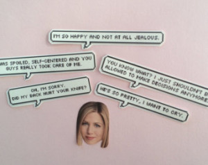 Rachel Green quotes stickers