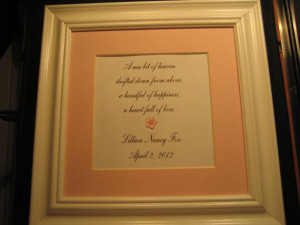 Personalized framed quote for a new baby girl by FiveSistersshop, $20 ...