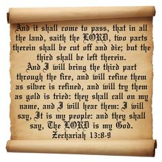 inspirational bible verses kjv zechariah 13 verses 8 9 inspirational ...