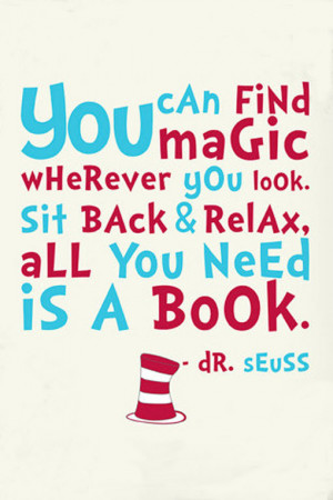 ... you look. Sit back and relax. All you need is a book.