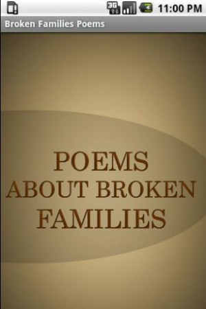 Broken Families Poems