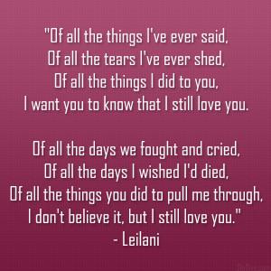 Leilani poem 42 Valentines Day
