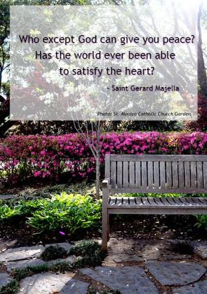 Quote - St. Gerard Majella Photo: St. Monica Catholic Church Dallas ...