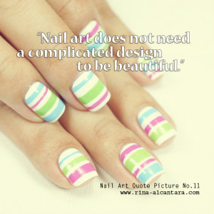 Nail art used in photo is Colored Stripes