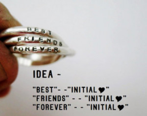 ... Friends Ring, BFF, Interlocking Rings, Best Friends Forever, Stamped