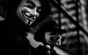 Anonymous masks wallpaper