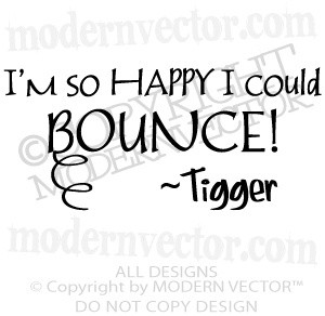 winnie the pooh quotes | TIGGER Vinyl Wall Quote Decal