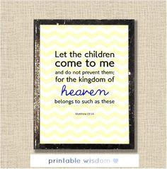 Nursery Bible verse, Scripture printable, Christian Printable wall art ...