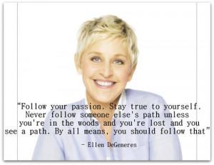 Ellen DeGeneres..