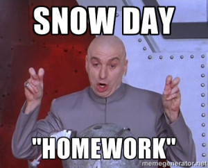 Dr. Evil Air Quotes - Snow day