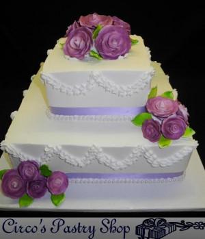 Square Wedding Cake Designs