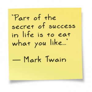 Mark Twain #quote about #food