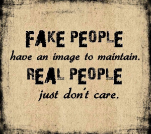 Fake people vs real people