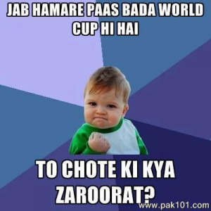 Funny Boy on Pakistan Cricket Team and World Cup