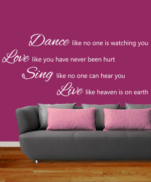 Dance-Like-No-One-is-Watching-Wall-Art-Sticker-Mural-Quote-Easy-Peel ...