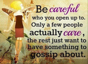 Caring or gossiping?