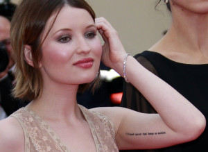 Emily Browning up for PLUSH