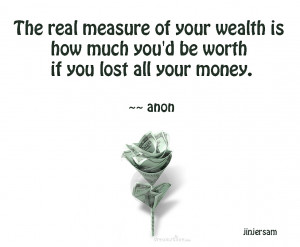 The Real Measure Of Your Wealth Is How Much You'd Be Worth If You ...