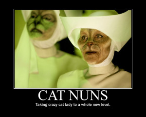 cat nuns from doctor who blink cats weeping angels cats if