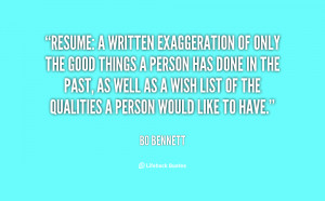 Quotes About Resumes