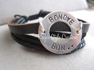 ... /mission Bondye Bon (God is good in Creole) leather Haiti bracelet