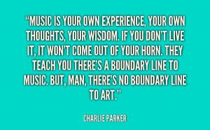 Charlie Parker Music Quote - SLC Guitar Guru
