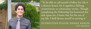 ... the selection of the 2014-15 Los Angeles Schweitzer Fellows here