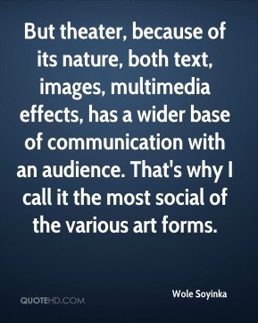... wider base of communication with an audience. That's why I call it the
