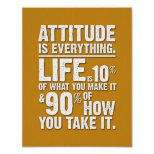 Attitude is Everything Poster - Orange