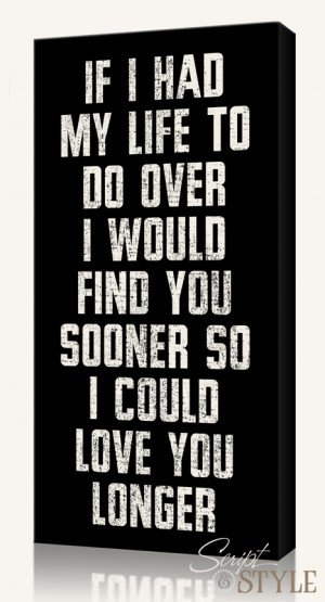 Home Canvas Wall Art Canvas Wall Art with Quote, Love You Longer