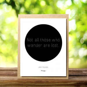 Lord of the Rings Card - J.R.R. Tolkien Quote - Literary Card - Blank ...