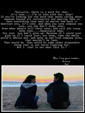 How I met your mother. Sunrise, season 9. - Himym quotes - Ted quotes