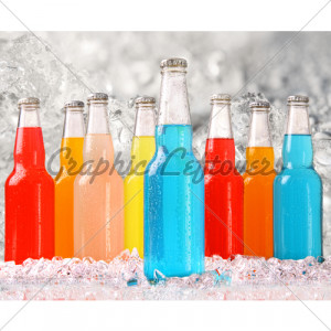 Alcohol Colorful Drinks Drunk Ice Cubes Image