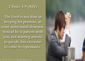 The Lord is not slow in keeping his promise, as some understand ...