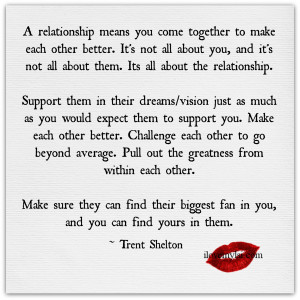 relationship means you come together.