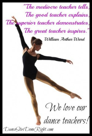 Dance Teacher Quotes