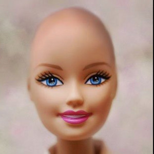 Bald and Beautiful Barbie! To support child cancer patients