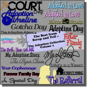Adoption Collection Digital Scrapbook Kit