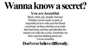 beautiful, quote, secret, truth