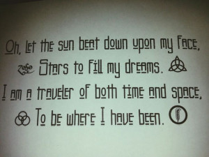 ... myself and getting it tattooed on my ribs. Led Zeppelin Kashmir quote