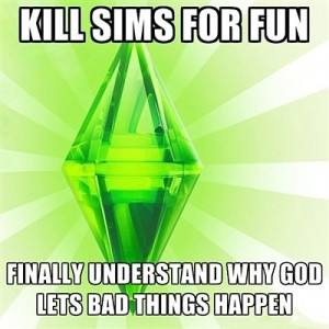Funny photos funny Sims video game God