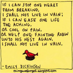 Emily Dickinson (memorized this at young age and never forgot it ...