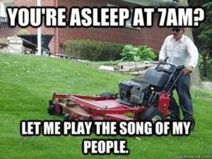 Funny Grass Cutter Joke Meme Image