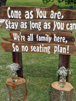 Cute Wedding Sign Sayings Wedding of courtney and ross: