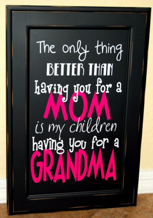 Christmas or Mothers Day gift idea for a grandma. Good idea for ...
