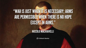 Machiavelli Quotes On War Clinic
