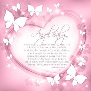 Angel Baby Miscarriage Pregnancy loss Not a day goes by i dont think ...