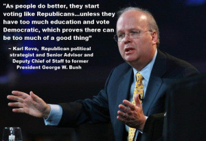 Nicely done graphics, right? But I wondered to myself, did Karl Rove ...
