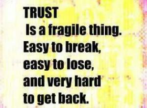 Remember this, untrustworthy